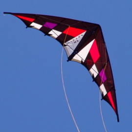 Mirage XL Kite Only - Black/white/red/purple