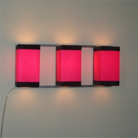 Wall Light Trio Pink