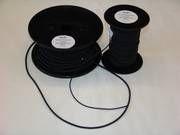 Elastiek snoer 2mm zwart per meter