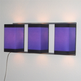 Wall Light Trio Purple
