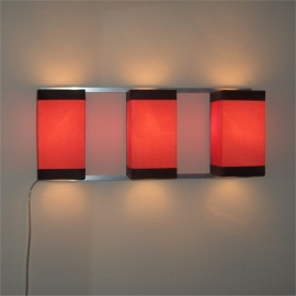 Wall Light Trio Red