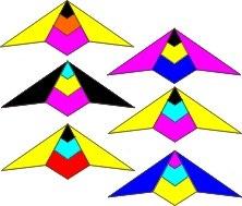 Arrow - Yellow/black/blue/pink / R2F + Polsbanden