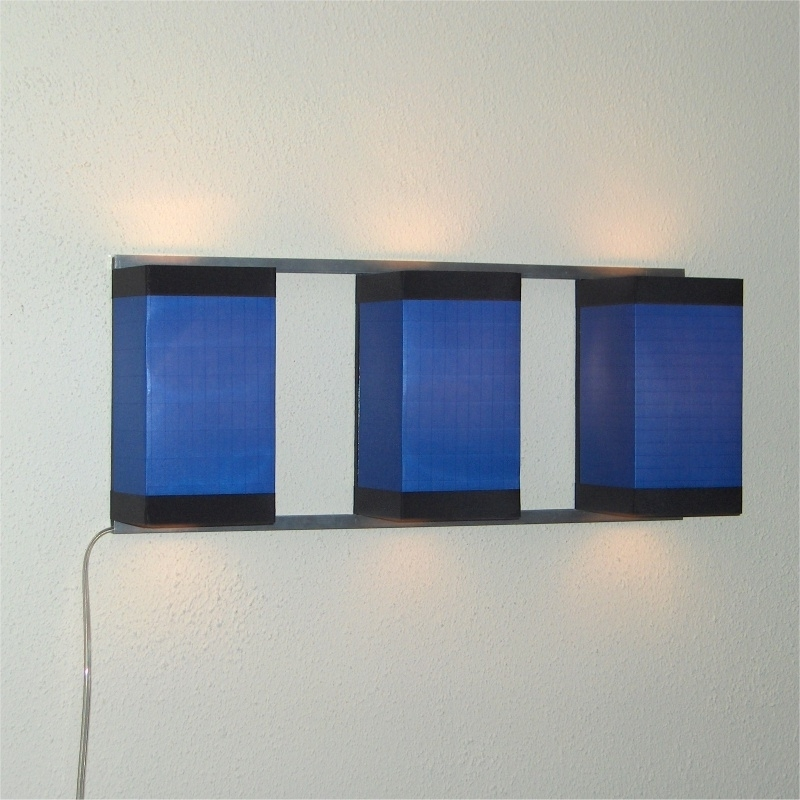Wall Light Trio Blue