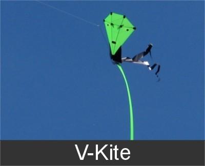 eenlijns vlieger V kite