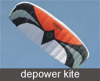 Depower kites