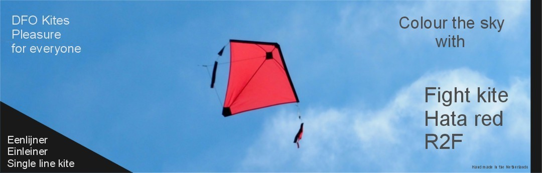 Fight kite Hata a red