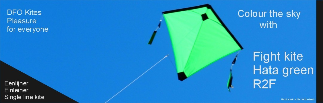 Fight kite Hata a green