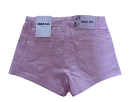Korte broek met verstelbare taille en leuke steentjes op de zakken kleur Rose