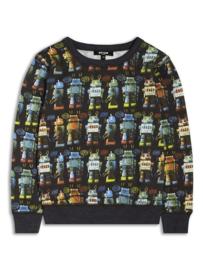 Sweater van het Engelse merk Riot Club met all over robot print valt op maat.
