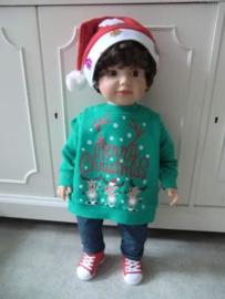 Kersttrui BABY Rendiertjes Groen