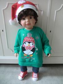 Kersttrui BABY PINQUIN Groen