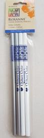 Set markeer potloden / 2 grijs, 2 wit