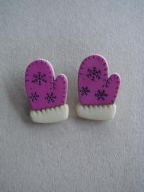Handschoen lila
