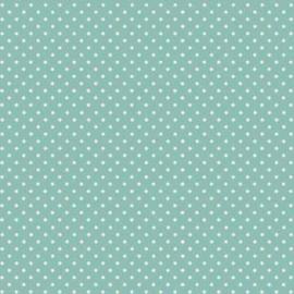 Quiltstof teal met witte stip 830-T3 - Andover Fabrics