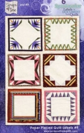 Paper Pieced Quilt Labels #3