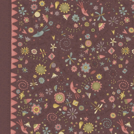 Quiltstof Garden Whimsy 8672-58 - Hatched & Patched