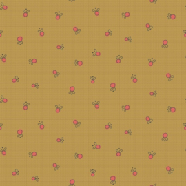 Quiltstof Garden Whimsy 8676-33 -  Hatched & Patched