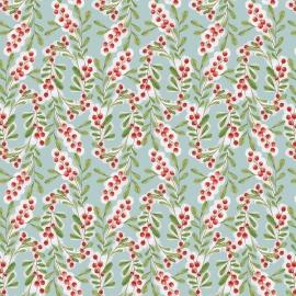 Quiltstof Merry Stitches - Much Joy Blue