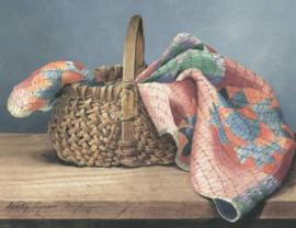 Ansichtkaart Quilt in A Basket