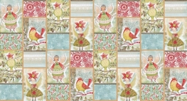 Quiltstof Panel Merry Stitches - Little World of Wonder