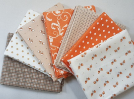 Quilt stofpakket Squirrelly Girl - Bunny Hill Designs