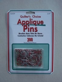 Applique Pins rood