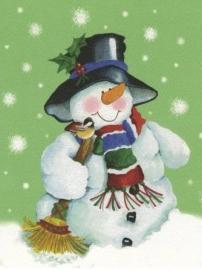 Kerstkaart Sneeuwpop #2