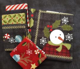 Quilt Panel stofpakket Flanel Snow Days #1 - Bonnie Sullivan