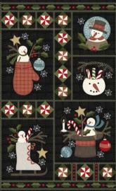 Quiltstof Flanel Snow Days Panel #2 - Bonnie Sullivan