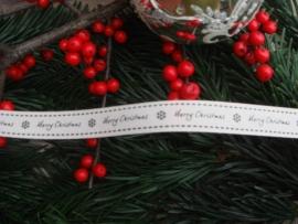 Kerstlint Merry Christmas (grijs)