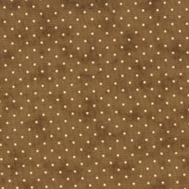 Quiltstof Moda essential dots bruin 8654-123