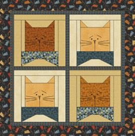 Quiltstof Cats N Bows 1007787 - Cheryl Haynes