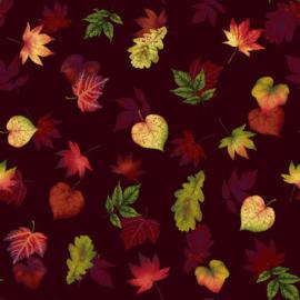 Quiltstof Burgundy 2664-89 - Pumpkin Harvest