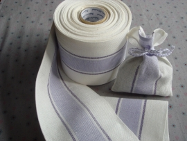 Dubbele linnenband, lila/wit