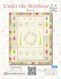Quiltstof Under the Mistletoe - Hatched and Patched 8330-66