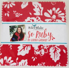 Charm Pack So Ruby - Riley Blake