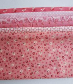 Quiltstofpakket roze