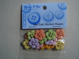 Sew Cute Sherbert Flowers