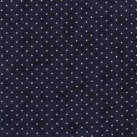 Quiltstof Moda essential dots d.blauw 8654-106