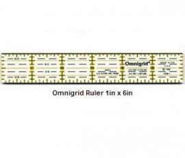 """Omnigrid liniaal 1"""" x 6"""""""