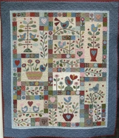 Berries and Bluebirds -  Block of the Month