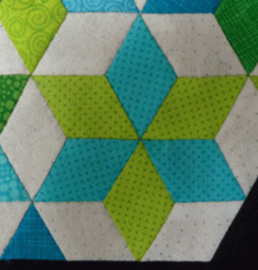 Quiltstempel Six point diamond, Triangle, Square