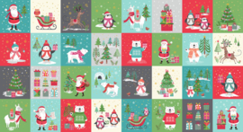Quiltstof Panel  Let It Snow