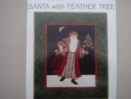 Santa with Feather Tree