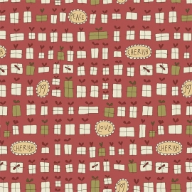 Quiltstof Under the Mistletoe - Hatched and Patched 8331-88
