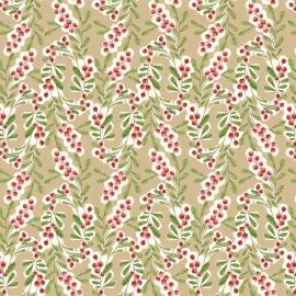 Quiltstof Merry Stitches - Much Joy Beige