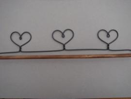 Quilthanger met drie hartjes