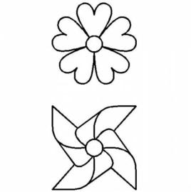 """Summertime Pinwheel & Flower 3""""  (7.6 cm)"""