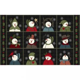 Quiltstof Flanel Snow Days  Panel #1 - Bonnie Sullivan