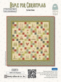 Quiltstof Home for Christmas - Hatched and Patched 2073-66
